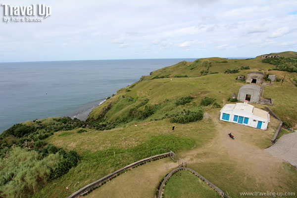 view from basco lighthouse batanes bunkers cafe