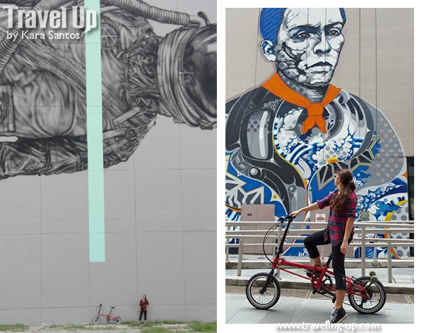 Gear review nyfti folding bike travel up for Bonifacio mural