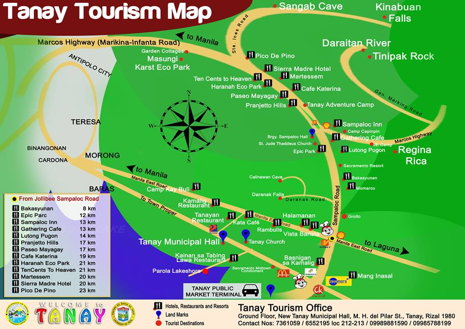tanay rizal tourism map travel up
